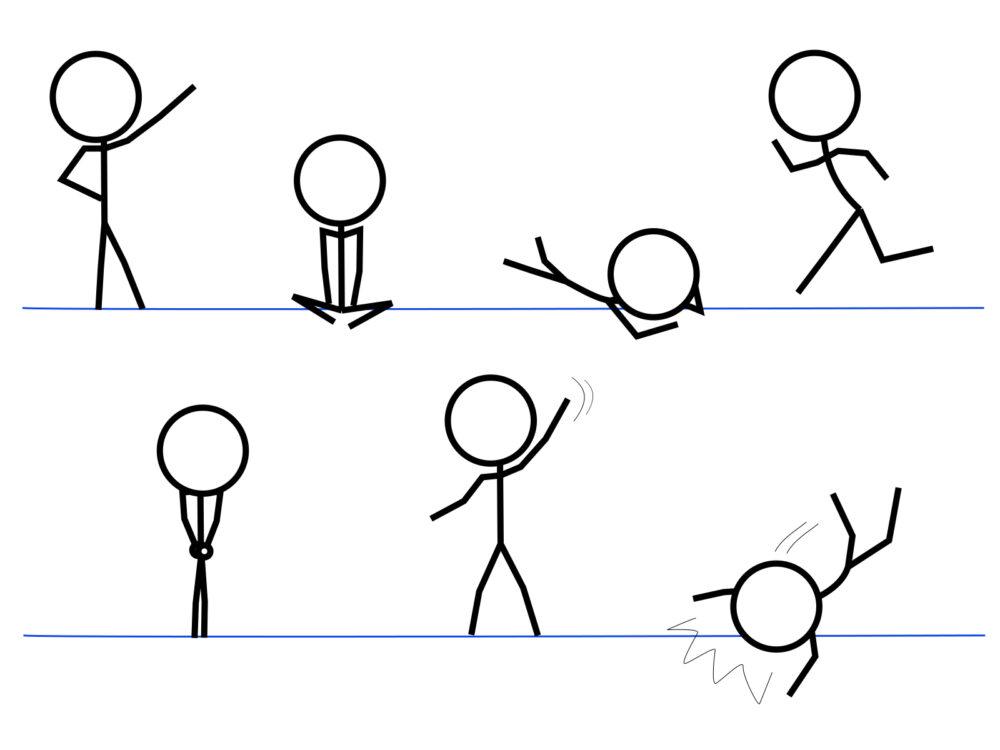 棒人間のイラスト
